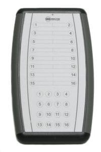16 channel handheld remote control